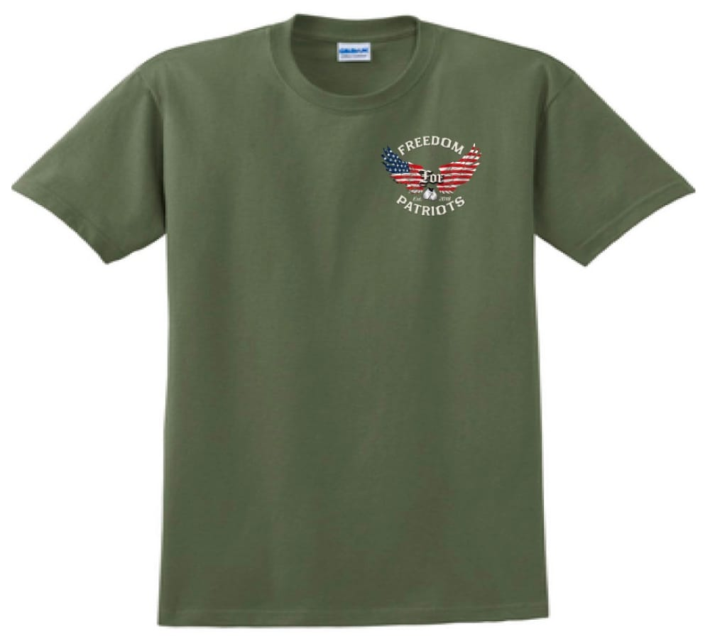 front of green freedom for patriots tshirt
