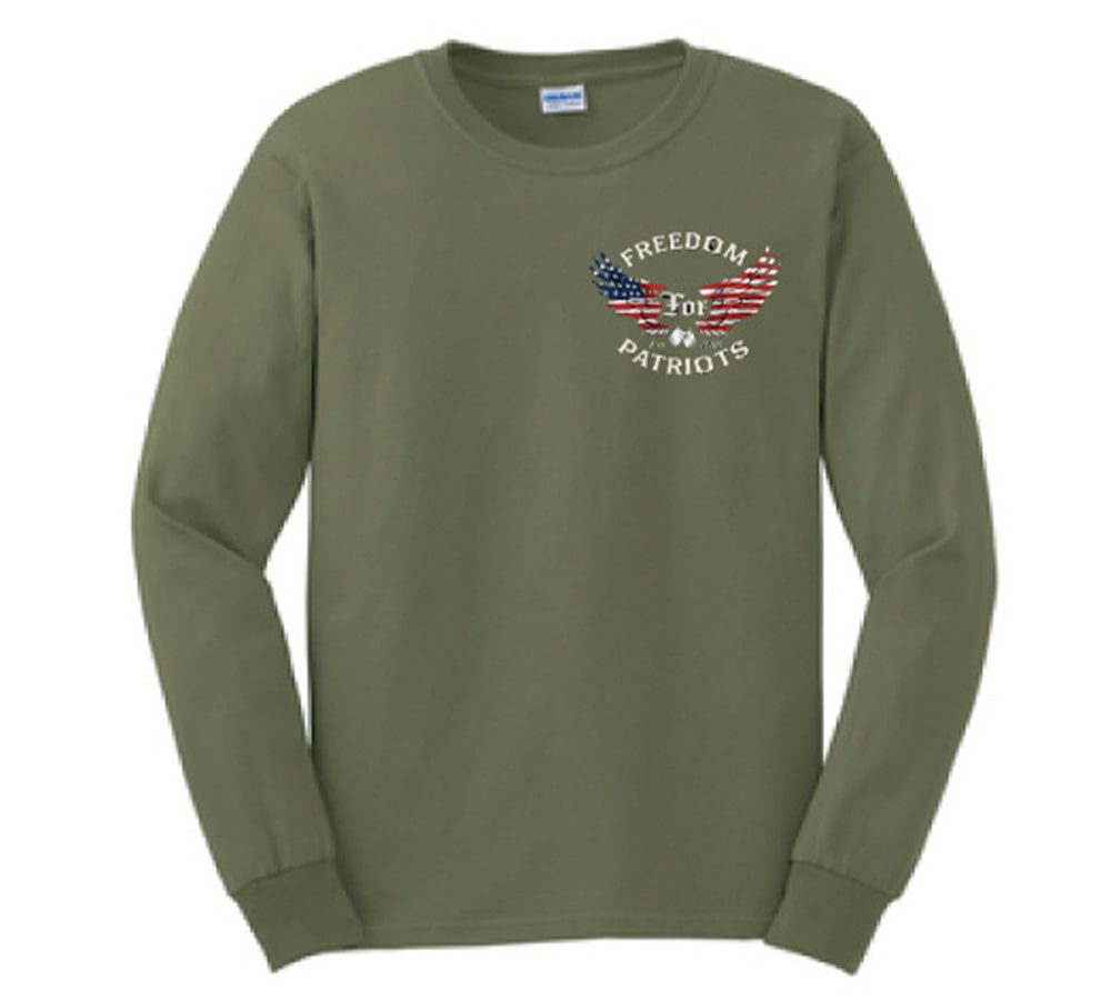 front of long sleeve t shirt